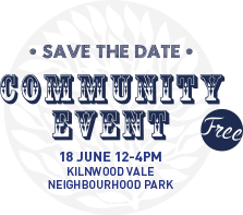 Save the date - Community Event 18th June 12-4pm (free) at Kilnwood Vale Neighbourhood Park